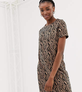 New Look zebra jacquard tunic in brown pattern