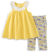 Kids Headquarters Baby Girls Baby Girls Two-Piece Floral Tunic and Capris Set