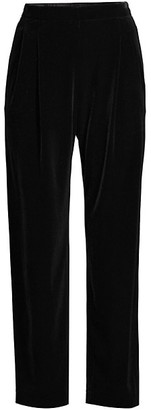 Lafayette 148 New York Cropped Prospect Velour Pull-On Pants