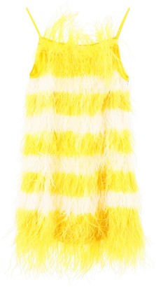 MSGM Feather Detail Mini Dress