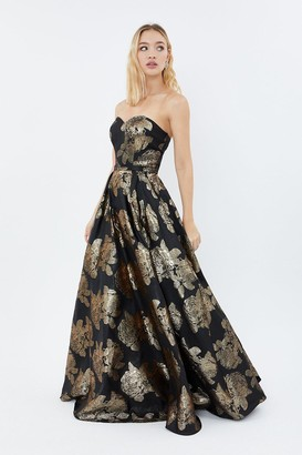 Coast Floral Jacquard Bandeau Maxi Dress