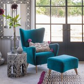 Graham and Green Elsa Wingback Chair And Footstool