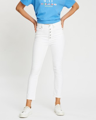 Gap High-Rise Cigarette Button Jeans