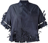 Facetasm denim bow shirt