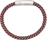 JCPenney FINE JEWELRY Inox Jewelry Mens Stainless Steel & Multicolor Braided Leather Bracelet