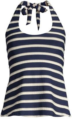 Robin Piccone Abi Striped Tankini Bikini Top