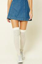 Forever 21 FOREVER 21+ Open-Knit Over-The-Knee Socks