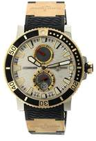 Ulysse Nardin Maxi Marine Diver Silver Dial Titanium Rose Gold Watch