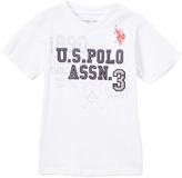U.S. Polo Assn. White 'U.S. Polo Assn.' V-Neck Tee - Toddler & Boys