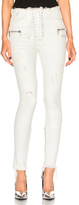 Unravel Lace Front Skinny Pants in White.
