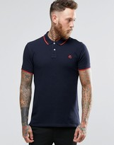 Ps By Paul Smith Paul Smith Polo Shirt With Ps Logo In Slim Fit Navy