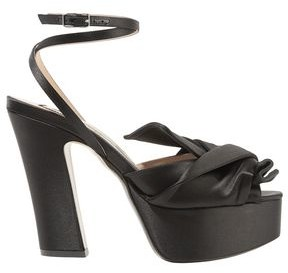 N°21 N21 Knotted Satin Platform Pumps