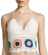 Arizona Crochet Halter Crop Top - Juniors