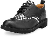 Givenchy Checkerboard Commando Derby Shoe, Black/White