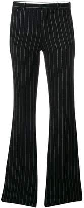 Each X Other lurex pinstriped flared trousers