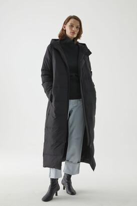 Cos Longline Hooded Puffer Coat