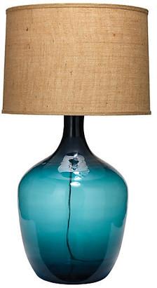 Jamie Young XL Plum Jar Table Lamp - Navy