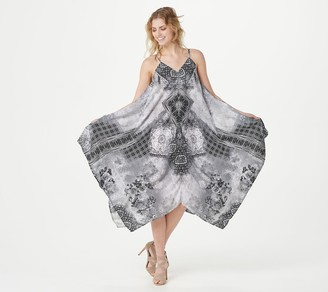 Tolani Collection Printed Handkerchief Hem Dress