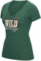 Reebok Women's Minnesota Wild Laced Up T-Shirt