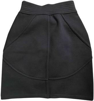 Alaia Navy Wool Skirt for Women
