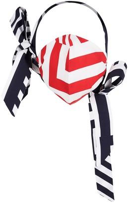 S I O B H A N M O L L O Y Face Mask With Bows Geo Baby Print