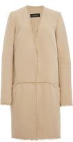 Wes Gordon Doubleface Cotton Twill V-Neck Cardigan Coat