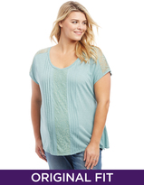 Motherhood Plus Size Lace Trim Maternity Top