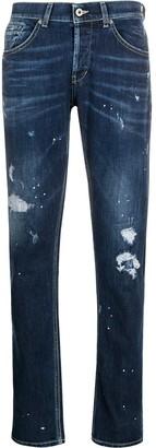 Dondup Paint Splattered Slim-Fit Jeans