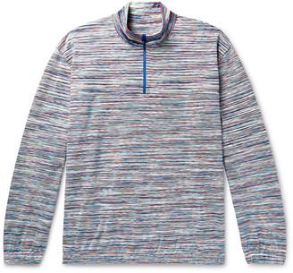 Missoni Space-Dyed Cotton Half-Zip Sweater