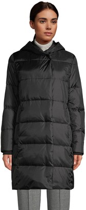 Lands' End Petite Hood Quilted Wrap Down Coat