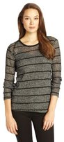 LnA Women's Sable Long Sleeve Striped Sweater