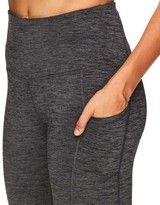 Gaiam Women's Leggings CHARCOAL - Charcoal Heather Pocket Om 26'' 7/8 High-Waist Leggings - Women
