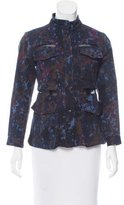 Rachel Comey Mesh-Accented Printed Jacket