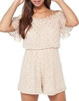 Miss Selfridge Dobby Lurex Playsuit