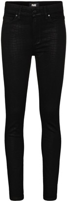 Paige Crocodile Effect Skinny Jeans