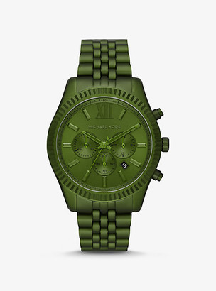Michael Kors Oversized Lexington Olive-Tone Aluminum Watch