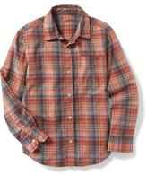Old Navy Button-Front Poplin Shirt for Boys