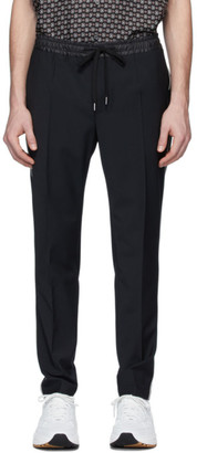 Dolce & Gabbana Black Stretch Wool Jogging Trousers