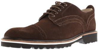 Oliver Sweeney Bowland Suede Brogue Shoes Brown