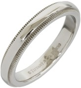 Tiffany & Co. Platinum Milgrain Wedding Band Ring Size 5