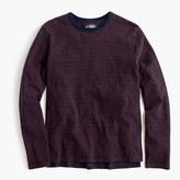 J.Crew Wallace & Barnes long-sleeve T-shirt in indigo microstripe