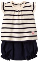 Petit Bateau Baby blouse and bloomers set
