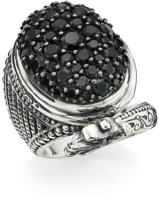 Konstantino Circe Sterling Silver & Black Spinel Dragon Ring
