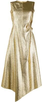 J.W.Anderson Lame-Effect Cut-Out Dress
