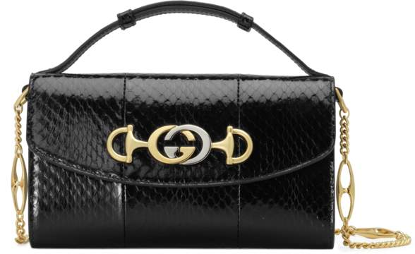 04d57a599ed1 Gucci Black Smooth Leather Handbags - ShopStyle