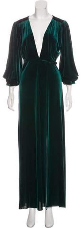 MISA Los Angeles Long Sleeve Maxi Dress Green Los Angeles Long Sleeve Maxi Dress