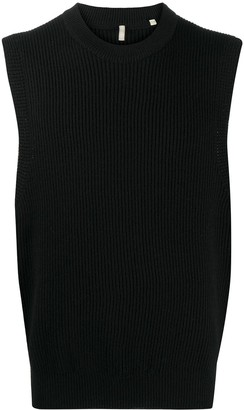 Sunflower Ribbed-Knit Sleeveless Vest