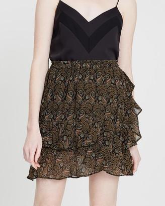 Scotch & Soda Asymmetric Printed Ruffle Skirt