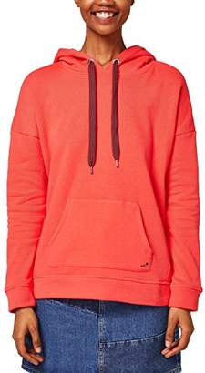 Esprit edc by Women's 028cc1j012 Sweatshirt, Coral Red 640, Small