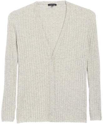 Lafayette 148 New York Chain Trim V-Neck Cashmere Cardigan